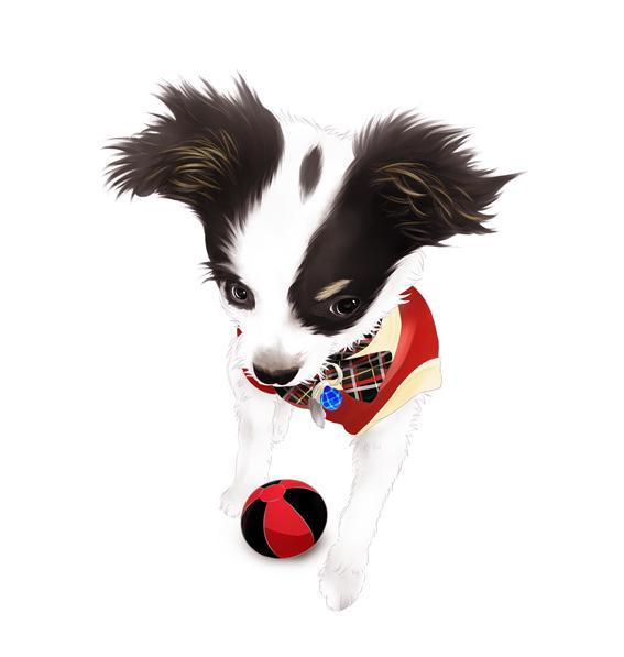 愛犬のイラスト描きます 写真とは違う、思い出の1枚にいかがでしょうか?