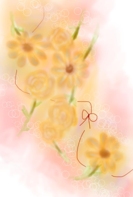 絵本風のイラスト*お客さまによりそって描きます お客さまのイメージを優しくあたたかいイラストにします*゚
