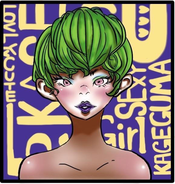 貴方の似顔絵をポップに描きます KAGEGUMAが貴方をポップに表現いたします!