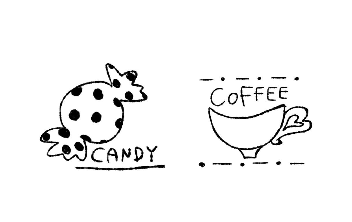 シンプル可愛いロゴ描きます お菓子やコーヒーの袋をお洒落に!