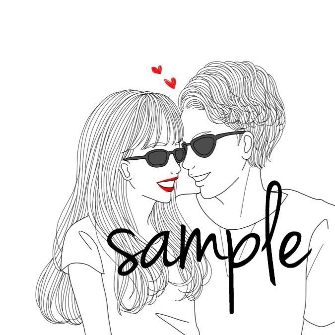 無料イラスト画像 最高のカップル かわいい イラスト 韓国