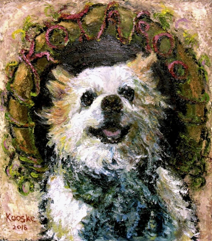 油絵でペットの肖像画、描きます イラストとは違う厚みのあるペット絵を描きます。 イメージ1