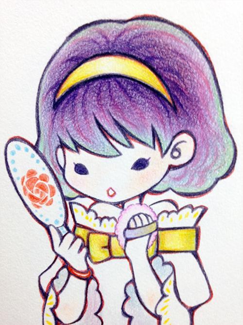 色鉛筆で可愛いイラスト描きます アイコンや挿絵のイラスト描きます。