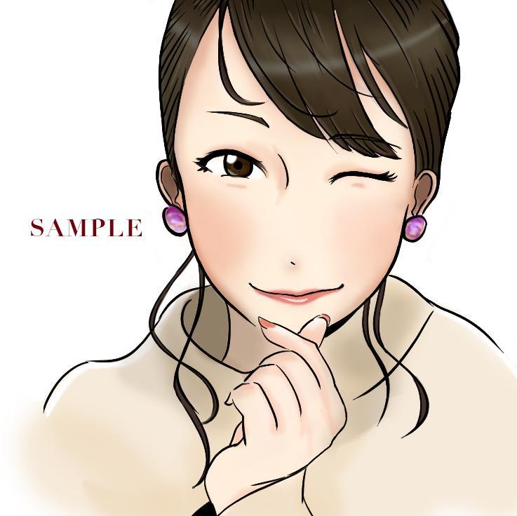 写真を元にアイコンに最適な似顔絵イラスト製作します イラスト作成 似顔絵  アニメ シンプル オリジナル 漫画風 イメージ1