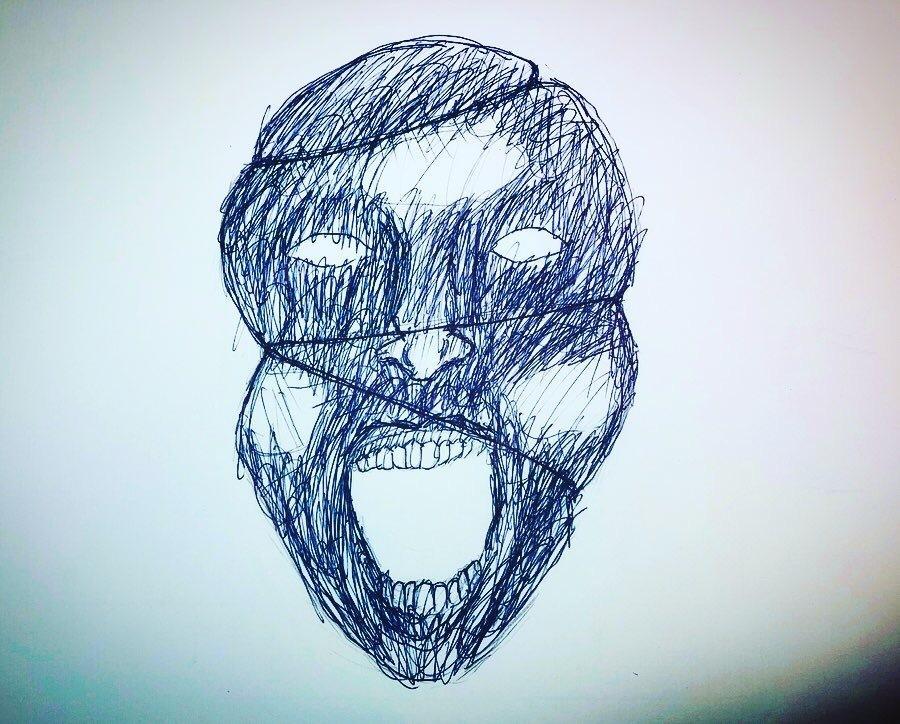 不気味だったり怖かったりする絵を描きます 期待に応えられる作品を提供させていただきます。