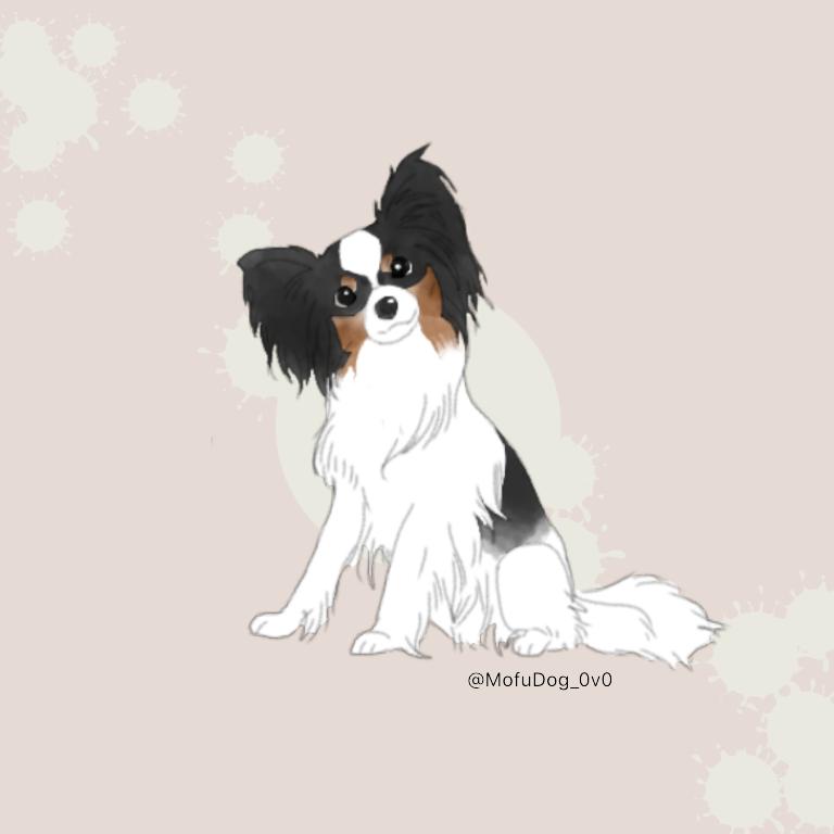 一名様限定!愛犬のイラスト描きます ◇シンプルながらも愛犬の特徴を生かした書き方に