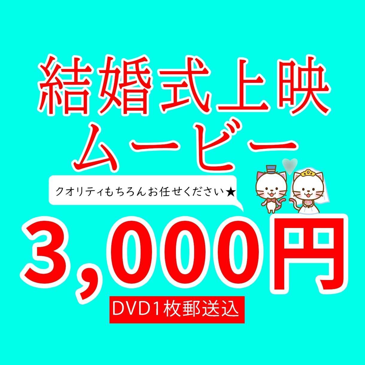 高品質なオリジナル動画、低価格でDVD納品します DVD1枚付き!3組限定、5月末までのお試し価格です! イメージ1