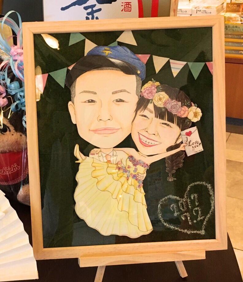 あなたの写真を元に似顔絵を描きます プレゼントや記念日にぜひ♡心を込めて描かせて頂きます!