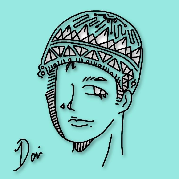 イラスト・似顔絵(アイコン用など)描きます あなたの雰囲気を★模様★にプラスして描きます!★最短1日★