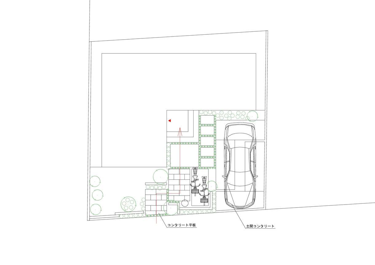 住宅エクステリア(外構)のラフ図面を制作します 住宅のエクステリアのラフプランをCADやスケッチで提案します