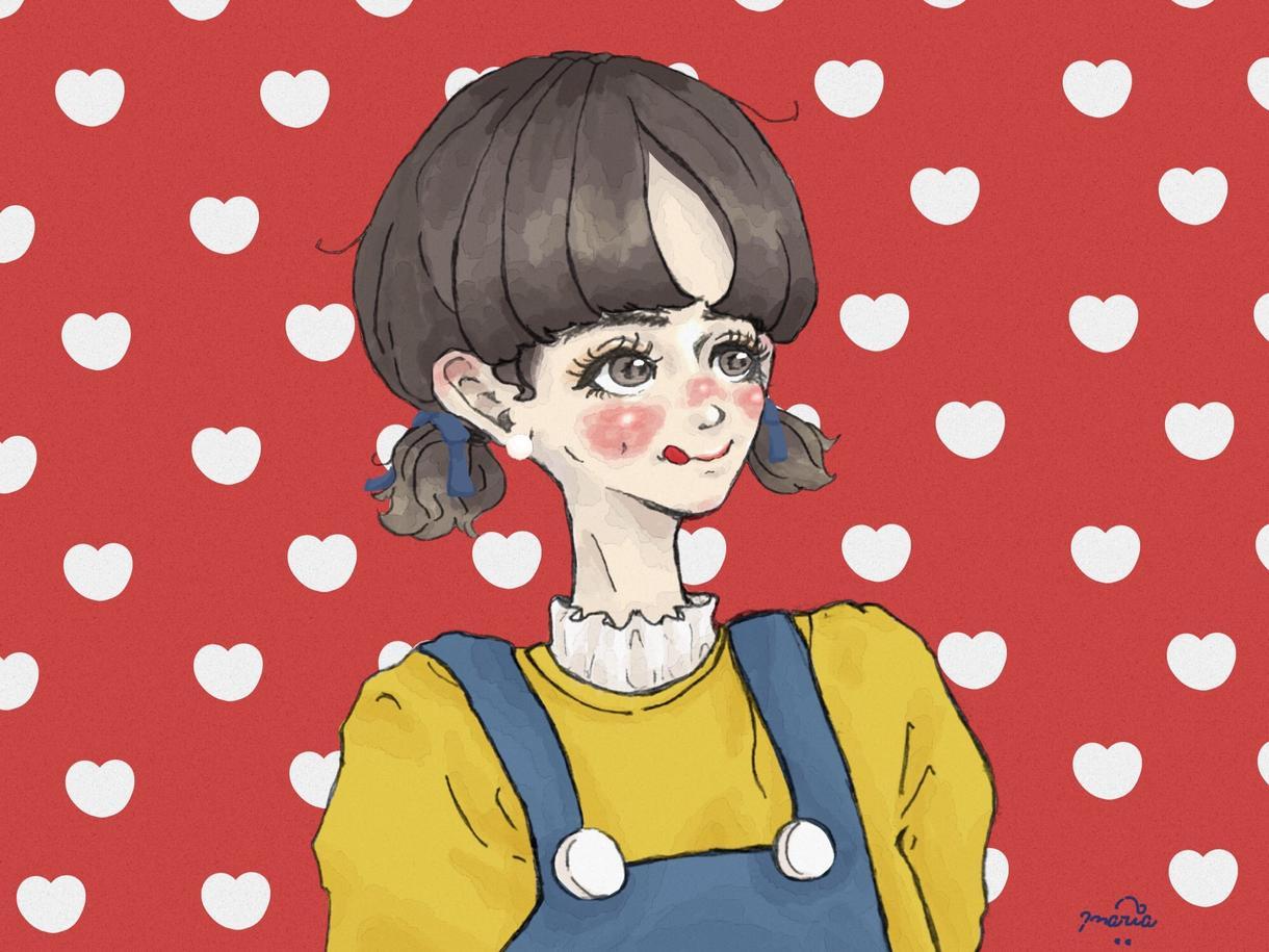 アイコン、イラスト描きます お洋服が好きな人やカップル、淡いタッチがすきな方へ!