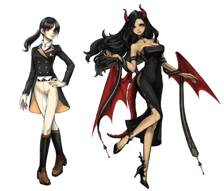 ゲームキャラのようなイラストを制作致します 厚塗り風のキャラクター全身図が必要な方に!