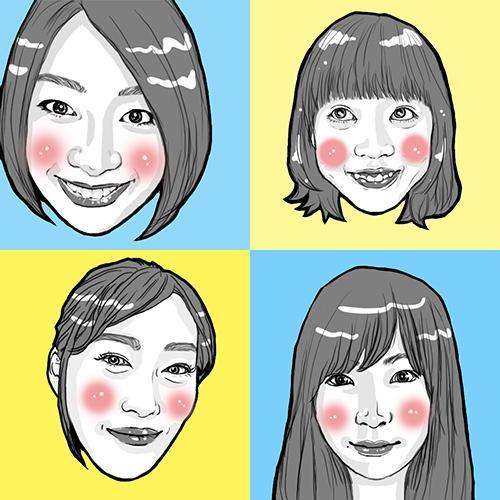 モノクロリアルタッチで似顔絵描きます ■シンプルな似顔絵アイコンいかがですか?■