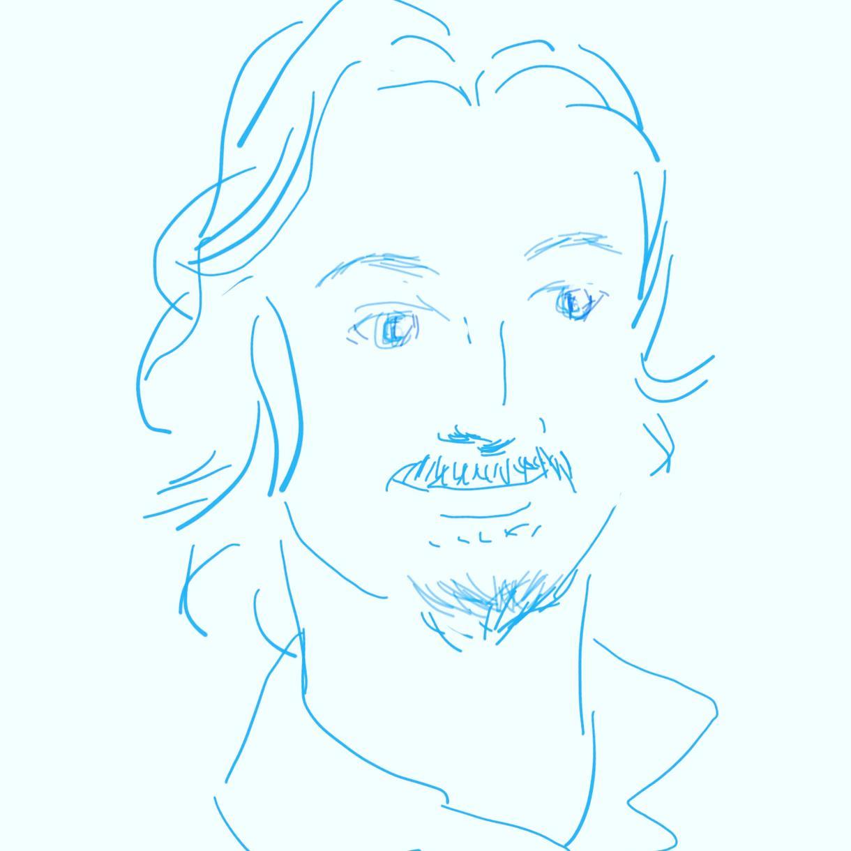 似顔絵アイコンを写真からお描きします レトロな雰囲気のイラストをアイコンにしてみませんか? イメージ1
