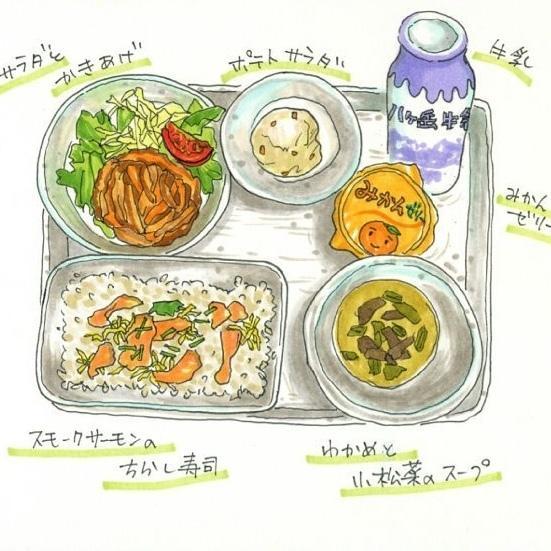 店頭ポップ、食べ物イラスト手描きします 人物や小物との組み合わせもOK!