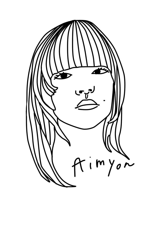 アイコンにも!おしゃれ線画似顔絵イラスト描きます おしゃれな線画イラストで似顔絵を描きます!追加カラーok! イメージ1
