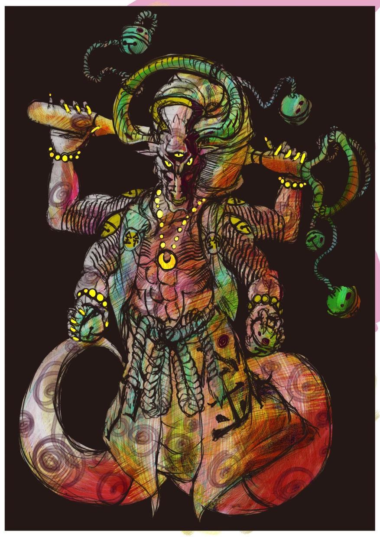 ドラゴンの絵を書きます アプリ制作時にキャラクターデザインが必要な方