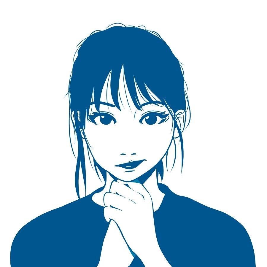 SNS用アイコンをお描きします 韓国風人物イラスト、ファッションにもこだわって。