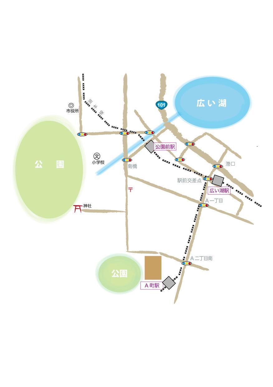 手書き風地図を住所だけでお描きします お店のHPやチラシなどが手書き風地図でグレードアップ!