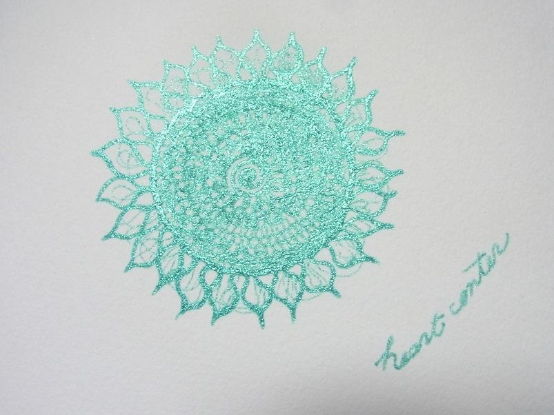 ハートの御座・あなたのハートセンターを絵にします あなたの心の中心に咲く輝くお花✨