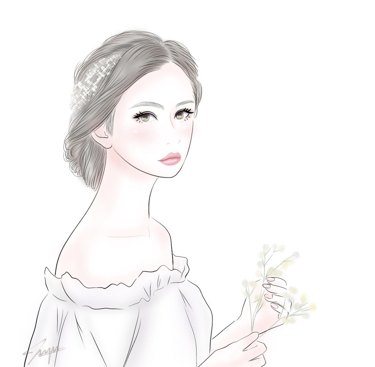 あなたを可愛くふわっとした似顔絵描きます 特徴をとらえつつ更に可愛くお描きします イメージ1