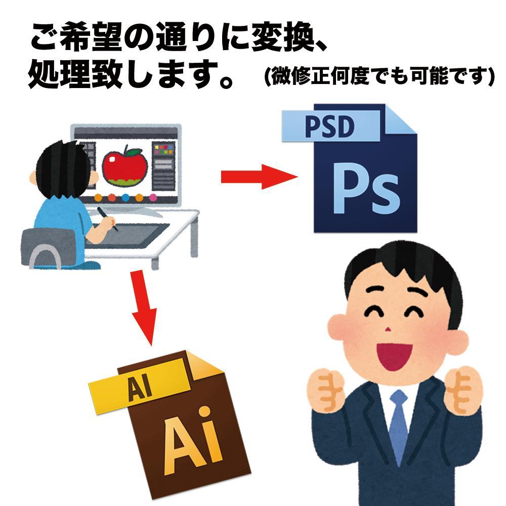 psd,aiデータ変換、入稿データの作成代行します デザインはあるが、入稿作業が出来ない!という方向け