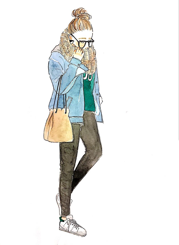 アイコン・ファッションイラストお描きします *おしゃれなスナップ、お気に入りのお写真イラストにしませんか
