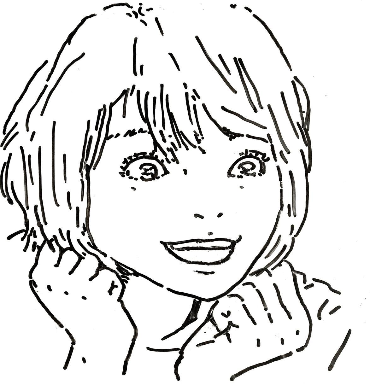 ホワイトボードに似顔絵を描いてデータでお送りします アイコン等に、マーカーで描いた似顔絵を使ってみませんか?