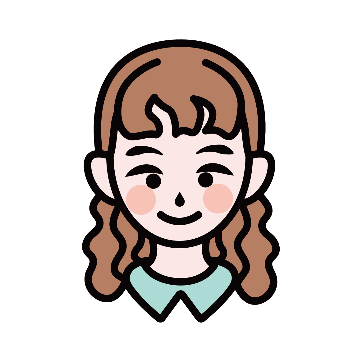 シンプルで可愛い似顔絵アイコン作ります ビジネスにも使用できる万人受けデザイン! イメージ1