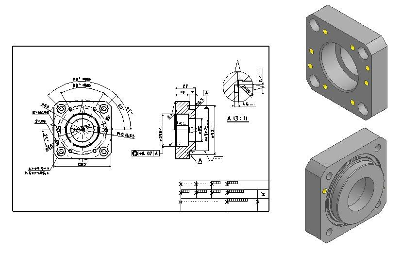 2Dから3D作成します 3Dモデリング、製作加工図面作成致します イメージ1