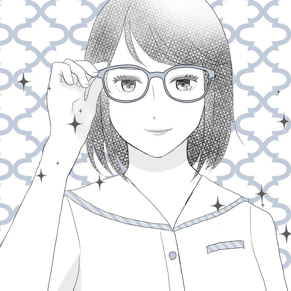 少女漫画タッチのアイコン作成します 少女漫画風の絵やモノクロ絵が好きな人に!