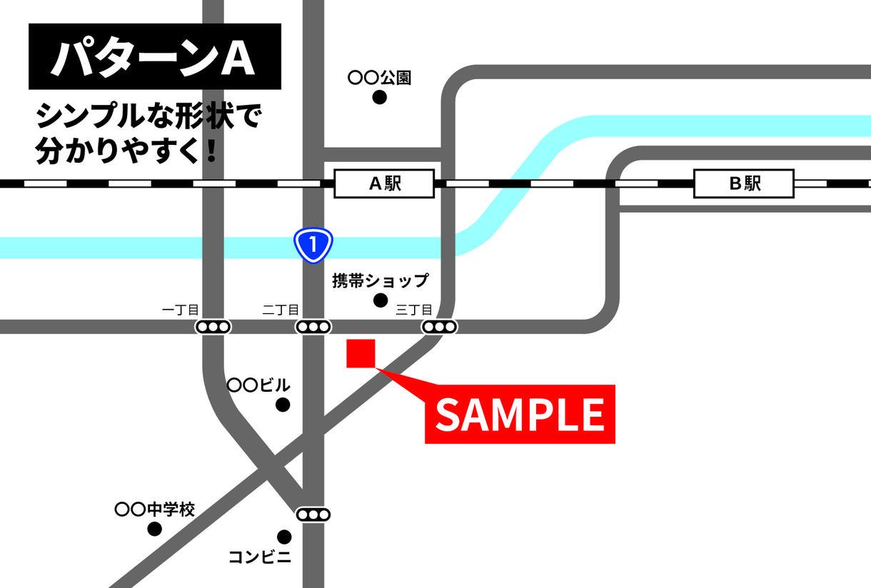 シンプルで分かりやすい地図を制作します 「伝わる」地図でお店やイベント情報をアピール!