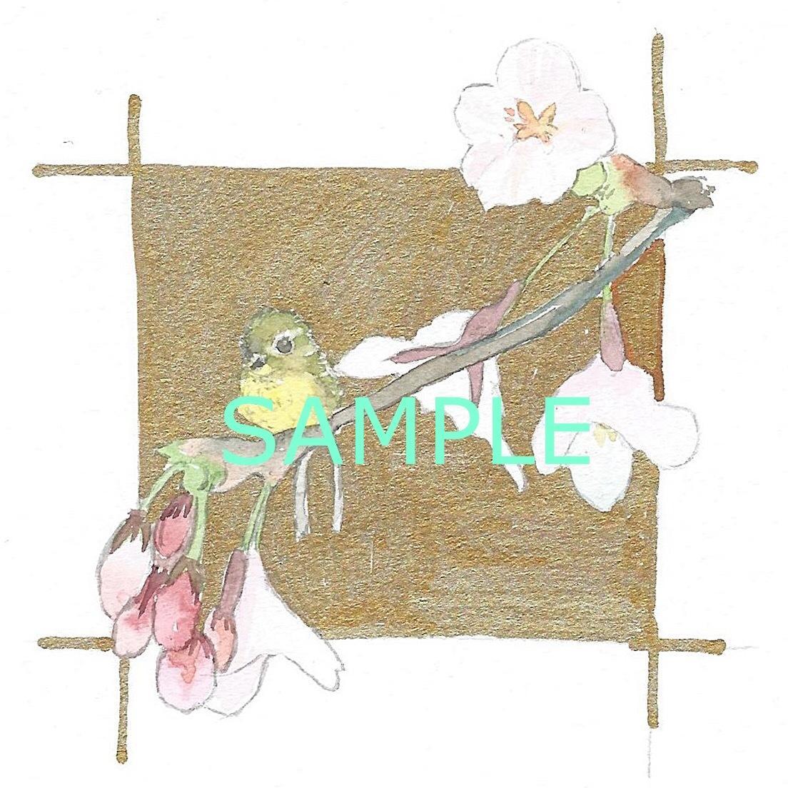花や植物などのアナログ水彩描きます 好きな植物や誕生花を水彩画イラストで!