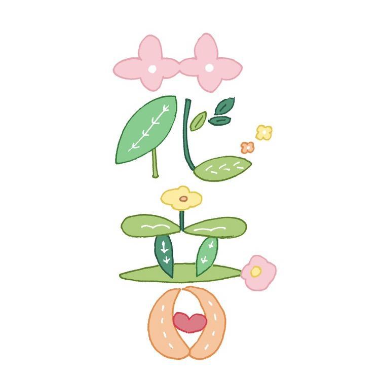 赤ちゃんのお名前をお花でかわいくお描きます 出産祝い♡お子様へのプレゼントに!メッセージカードにも♪