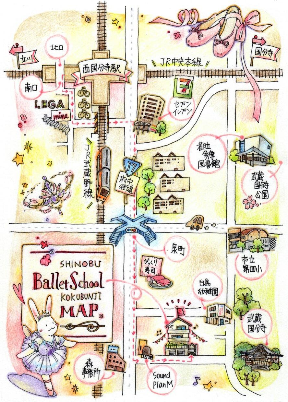 ペンと色鉛筆でオリジナル地図描きます 【手描きであったかく】【あえてアナログ】