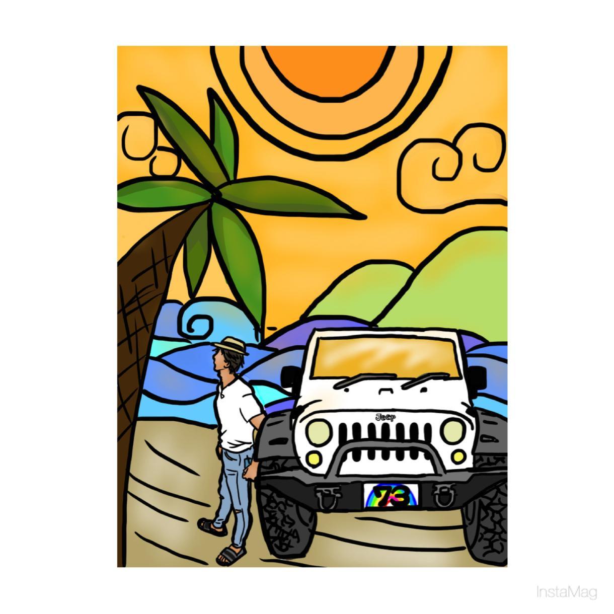 ハワイアンアート風のイラスト描きます プレゼントやご自宅用にもいかがですか♥