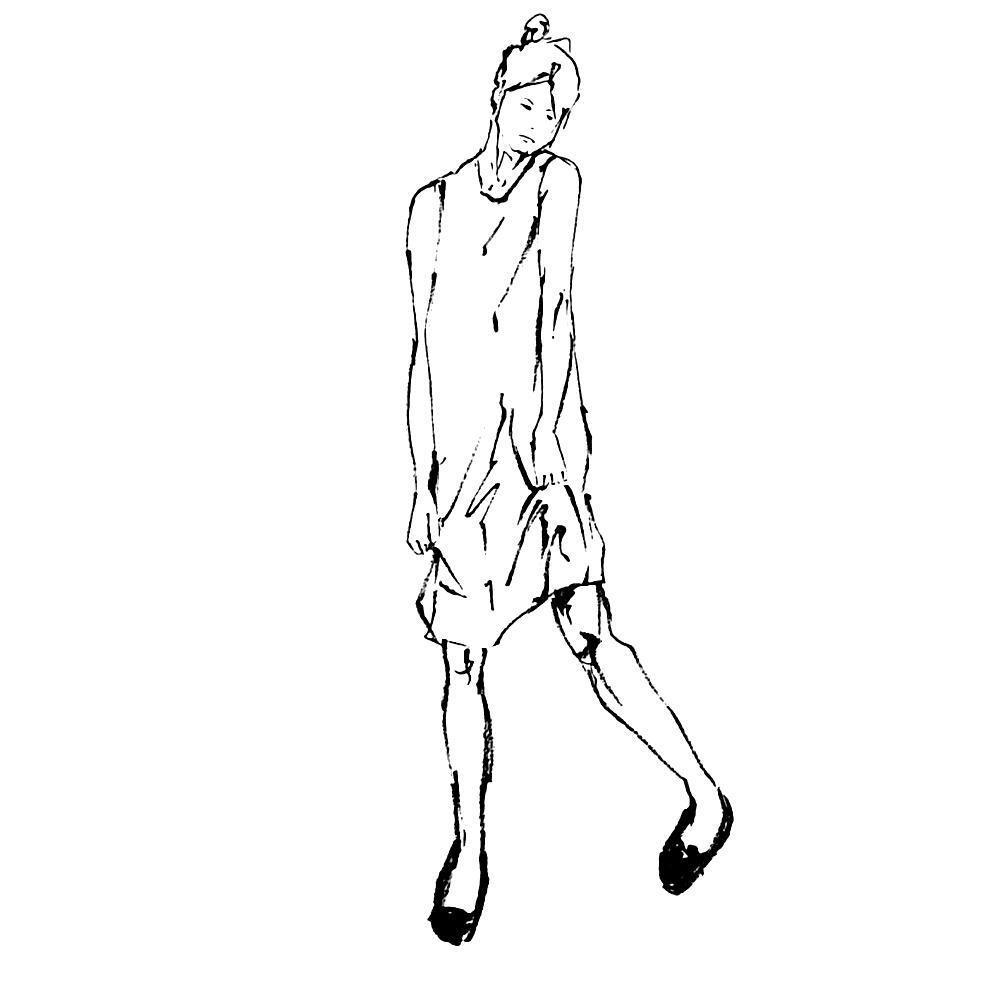 筆でオシャレなファッションイラストを描きます 修正無制限!プレゼントやインテリア、雑誌やロゴや商品PRに