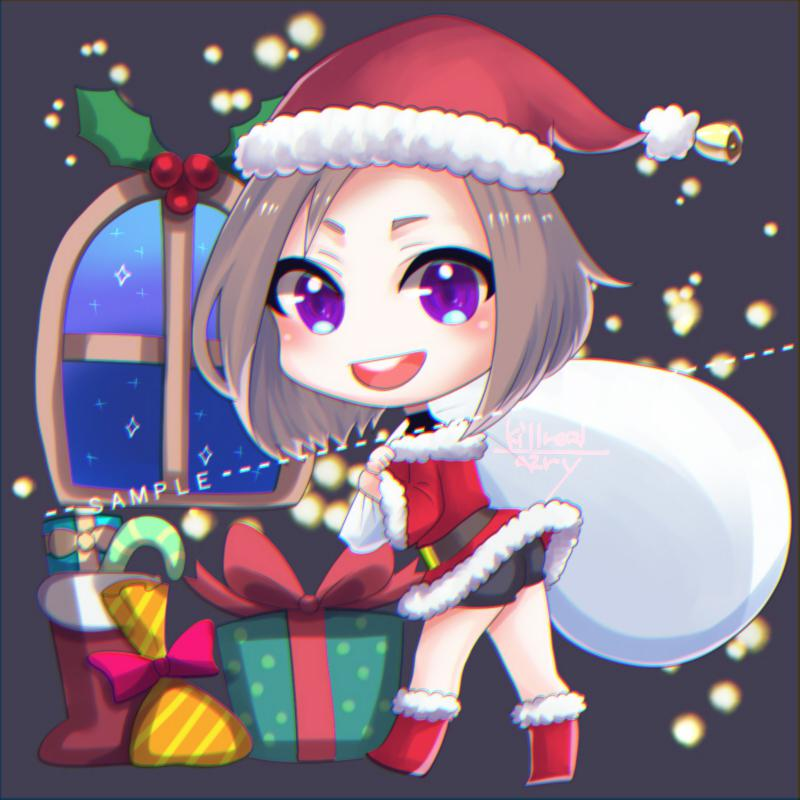 12/25迄限定可愛いクリスマスアイコン描きます ぱっと目を引くサンタクロースオリジナルアイコン作りませんか?