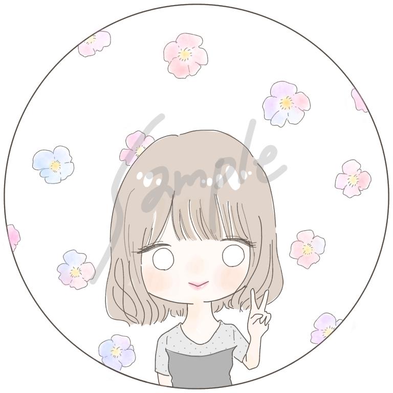 SNSにぴったりのアイコンを描きます ゆるい自分のキャラで、アイコンを可愛く!