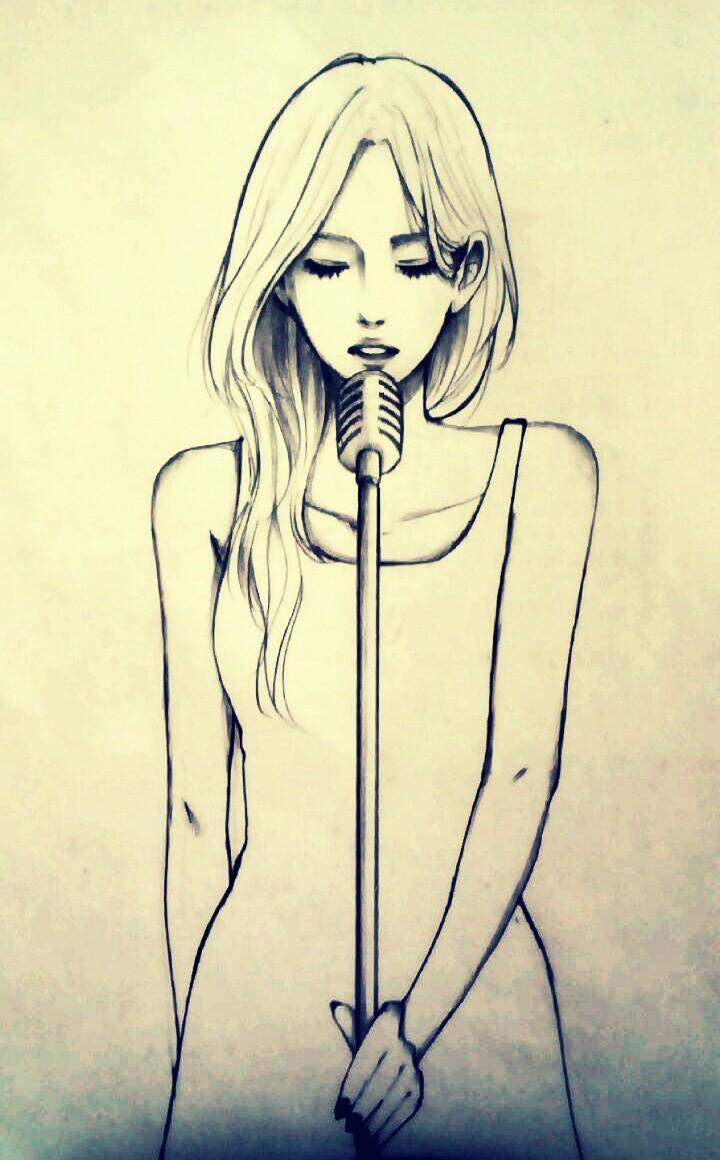 描いてほしいキャラクターを白黒アナログで描きます