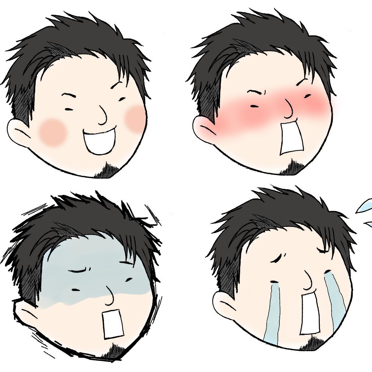 可愛らしい似顔絵承ります SNSや挿絵など様々な用途でお使いください☆