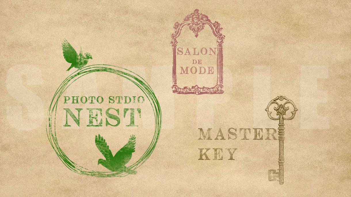 引き出物や記念品の印刷にもぴったりのロゴ作ります お急ぎ対応・修正・微調整無料!何パターンか提示させて頂きます
