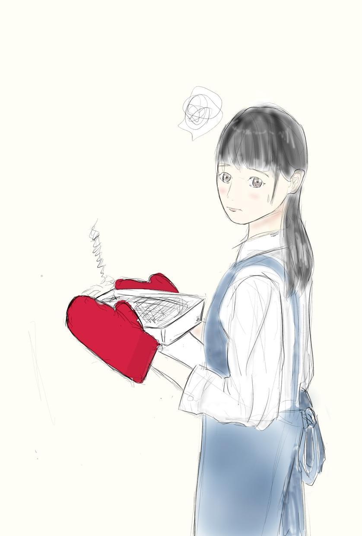 ブログなどに使える挿絵イラスト作成ます ラフな感じの女の子のイラスト制作