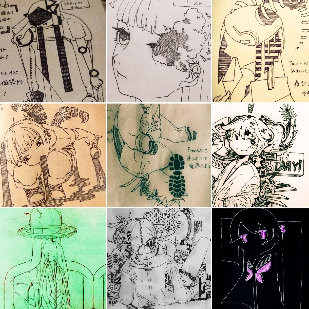 ちょっと個性的なイラストお描きします 一風変わったイラストをご希望の方に!