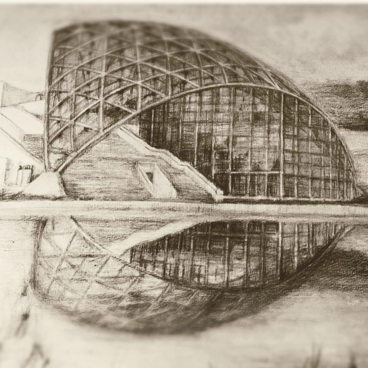 鉛筆スケッチ作成します 一級建築士が写真、CGパースからリアルなスケッチ起こします イメージ1