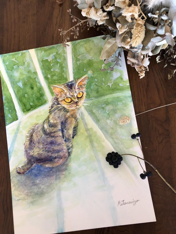 ペットの似顔絵描きます 大切なペットさんの写真をお借りして、水彩で仕上げます。