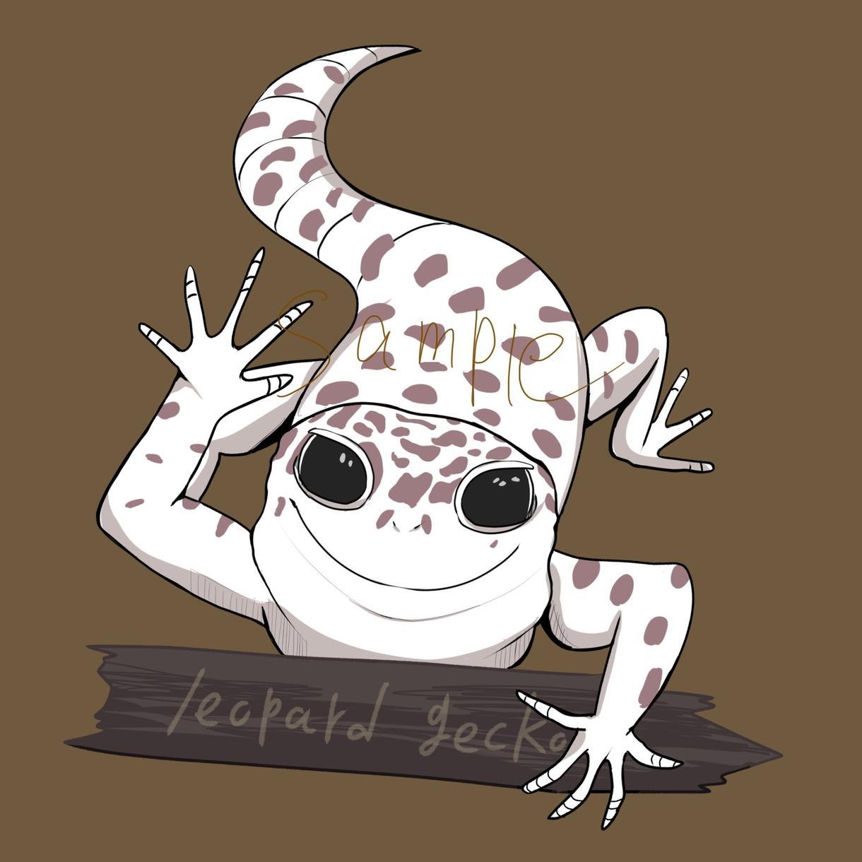 グッズやアイコンに!ペットや動物のイラスト描きます アニメ絵風の動物イラストお描きします!