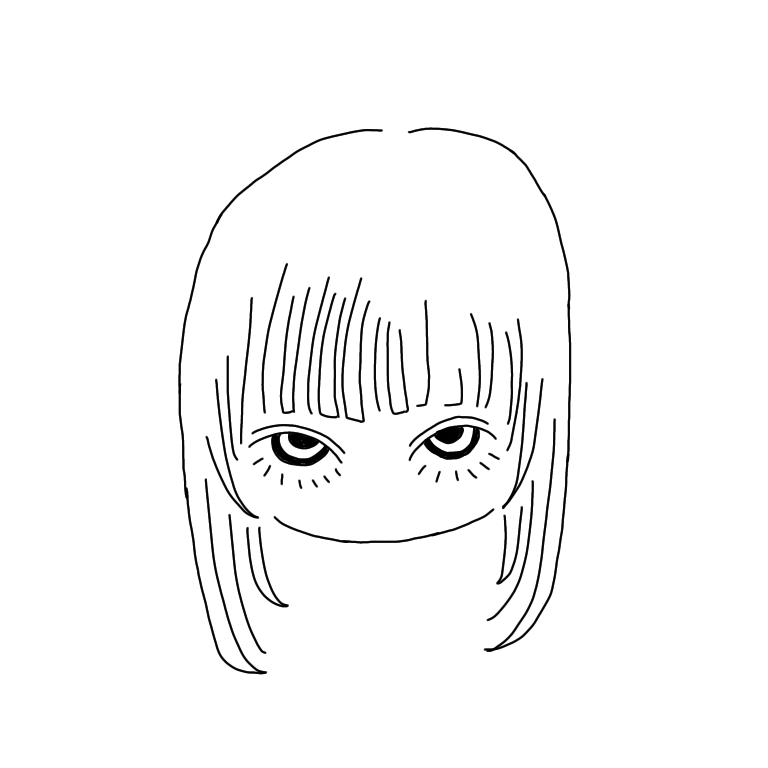 可愛い✖︎シンプルなモノクロ似顔絵描きます デジタルで描く、モノクロ似顔絵イラストです!アイコンなどに♡