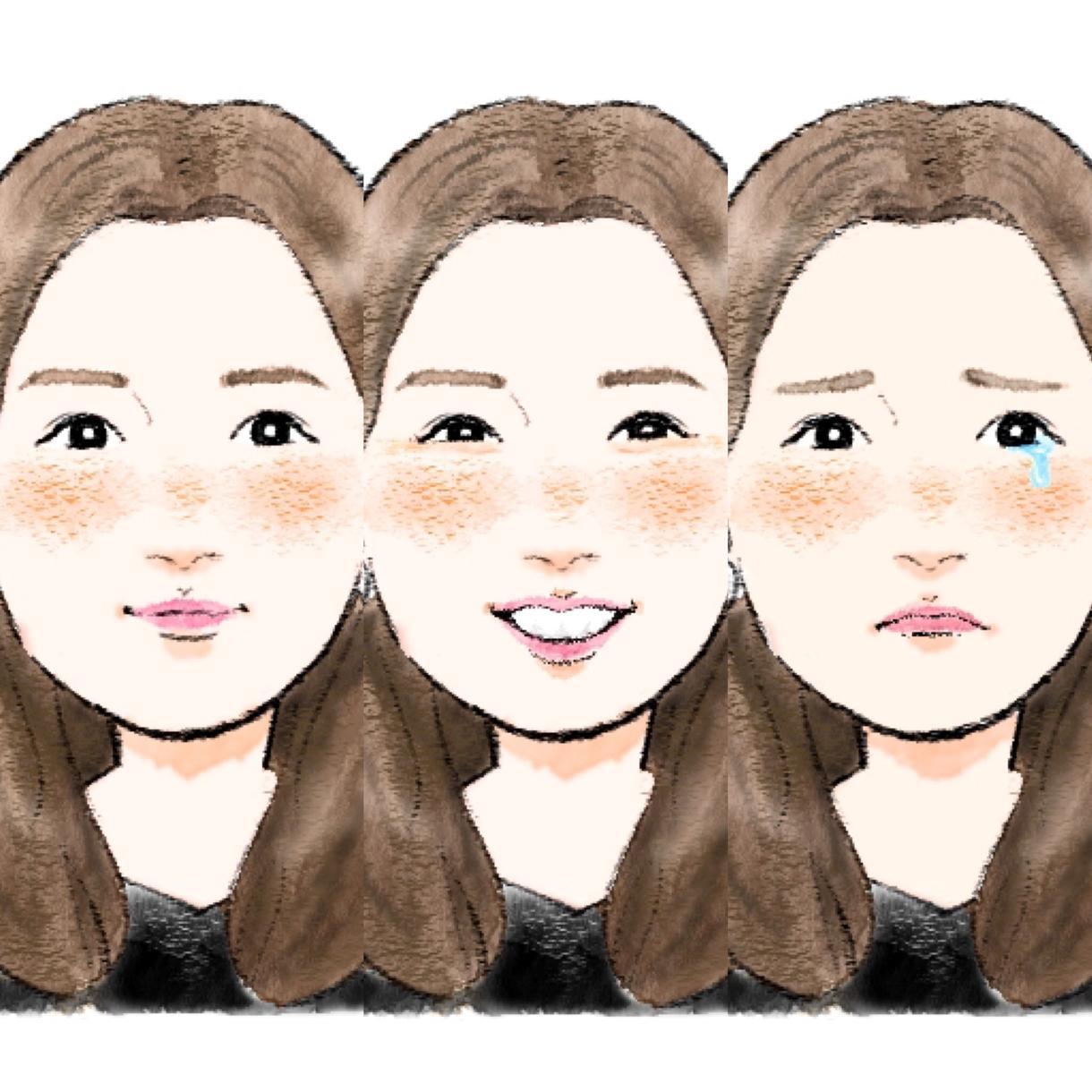 アイコンや名刺に!似てるデフォルメ似顔絵描きます 柔らかいタッチで特徴を捉えたデフォルメ化した似顔絵です♪