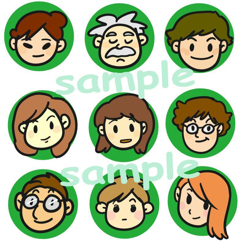 顔だけなら使いやすい!シンプルアイコンお作りします 商用OK!使い方はあなた次第!表情差分にも対応いたします! イメージ1